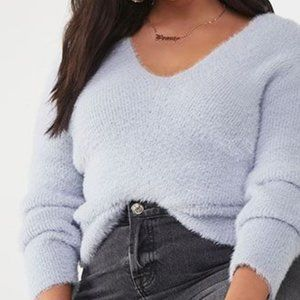 Plus Sized Fuzzy Sweater